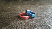 Anodized Head / Shaft Glans Ring Single Accent Band
