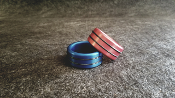Anodized Head / Shaft /Glans Ring Double Accent Band