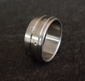 Divet Dual Stainless Steel Cockring from Ballistic Metal